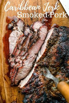 Jerked Smoked Pork If you loved Caribbean Jerk Smoked Pork, this jerk pork recipe is the best. The secret is my Jamaican jerk seasoning for a spicy, flavorful Jamaican Jerk Pork. Grilling Recipes, Meat Recipes, Dinner Recipes, Pork Roast Recipes, Grilling Tips, Barbecue Recipes, Oven Recipes, Dinner Ideas, Healthy Recipes
