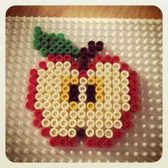 Apple hama beads by misspiu
