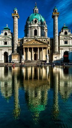 Karlskirche, St. Charles's Church, Vienna, Austria | by Franz Jachim on Flickr