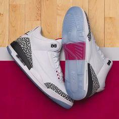 Nike Air Jordan 3 Retro Free Throw Line White Cement Best Sneakers, Custom Sneakers, Sneakers Fashion, Fashion Shoes, Sneakers Nike, Women's Fashion, Air Jordan 3, Jordan Shoes, Jordan Swag
