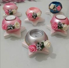 Diya Decoration Ideas, Diwali Decorations, Diy And Crafts, Arts And Crafts, Clay Art Projects, Piggy Bank, Divas, Polymer Clay, Candles