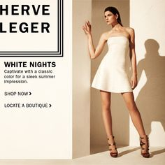 Herve Leger - Captivate With A Classic Color.