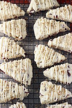Cranberry Maple Walnut Scones with a Brown Butter Maple Glaze