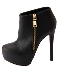 side-zip platform ankle booties