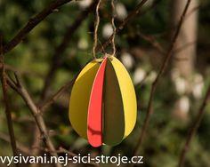 Velikonoční dekorace - papírová 3D vajíčka