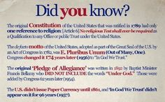 Interesting piece of historical context re: religion in U.S. culture and government.