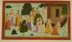 The British Library -  Ramayana, Bala Kanda. - caption: 'The courtesans tempt Rishyasringa'