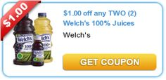 $1.00 off any TWO (2) Welch's 100% Juices