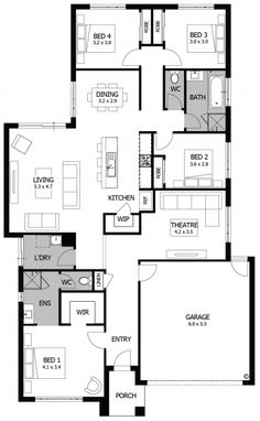 Our new home designs are created around the lifestyle you lead. For spacious living areas, functional kitchens, modern features & more, see our home designs Best House Plans, Dream House Plans, Small House Plans, House Floor Plans, Build My Own House, Unique Floor Plans, House Ideas, Plan Design, Design Ideas