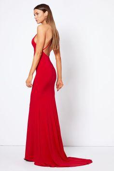 22d7cc525ec Cross Back Fishtail Maxi Dress by Club L - Dresses - Clothing