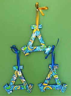 Delta Delta Delta Lilly Print Ornaments by aesovereign on Etsy... these are BEYOND cute