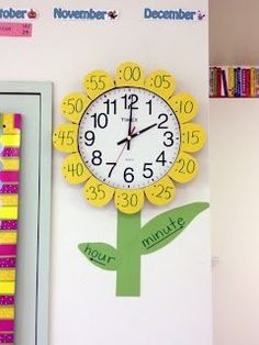 Classroom flower clock to help learn time  | followpics.co