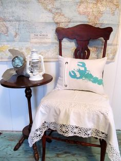 Lobster Hand Painted Sea Green/Turquoise by searchnrescue2 on Etsy, $40.00