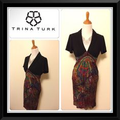 Beautiful Trina Turk dress✨✨✨ Beautiful new condition dress by Trina Turk. Side zipper 100% silk very soft. Polyester lining and dry clean only! Trina Turk Dresses Midi