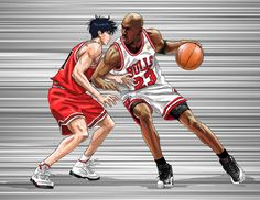 The illustrator KEVIN DENG realized  the first AIR MANGA ! http://kzdeng.com/  #MichelJordan #AirJordan #Bulls  #ARTJORDAN