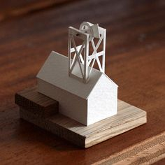 from Charles Young's daily architectural paper model project, 'Paperholm'
