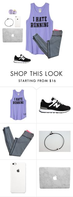 """I hate running"" by mckenzie-carr0ll ❤ liked on Polyvore featuring Victoria's Secret, New Balance, lululemon, Eos, women's clothing, women's fashion, women, female, woman and misses"