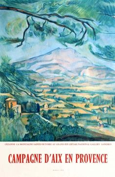 Countryside Of Aix En Provence Cezanne 1950s - original vintage poster listed on AntikBar.co.uk