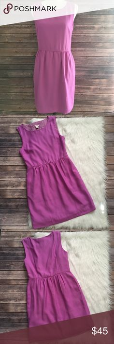 J. Crew Factory Purple Sleeveless Ruched Dress Lightly worn no flaws  Hook & zipper closure on side  Perfect color for spring!   Bust-17 inches  Length-34 1/2 inches   NO HOLDS NO TRADES  NO MODELING  41 J. Crew Factory Dresses