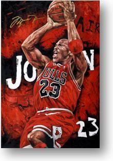 """Legend"" Michael Jordan Sports Art from Gameday Sports Art http://www.gamedaygoods.com/Legend-Michael-Jordan-Sports-Art_p_27280.html"