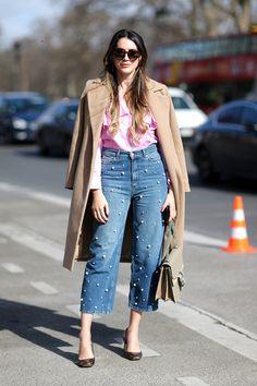 Jeans que serán tendencia en 2017 (y 2018) - JEANS CON PERLAS | Galería de fotos 4 de 13 | Glamour