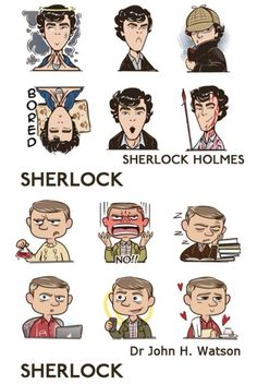 Wonderfully funny expressions from Sherlock and John.