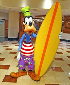 images of wdw's goofy surfing | Of course, you won't be doing any actual surfing at the resort, but ...
