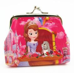 1pcs lovely Snow White&SOFIA PVC cartoon girl coin purses child change purse,lady students zero wallets bag Free shipping