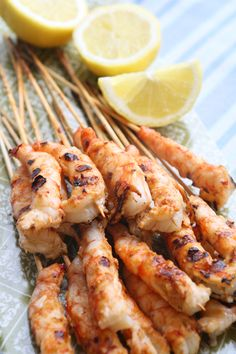 γαρίδες μαρινάδα Seafood Recipes, Cooking Recipes, Food Categories, Greek Recipes, Fish And Seafood, Family Meals, Shrimp, Grilling, Recipies