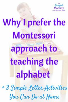 Montessori alphabet activities | Teach the Alphabet | Preschool Literacy