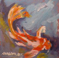 """Koi"" - Original Fine Art for Sale - © Susan E Jones"