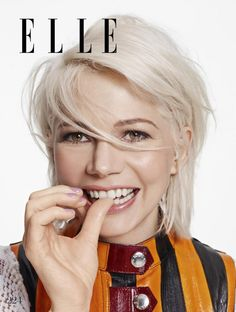 Ideas For Hair White Blonde Michelle Williams Michelle Williams Style, Michelle Williams Haircut, Nabla Cosmetics, Crop Hair, Pelo Bob, White Blonde, White Hair, Actrices Hollywood, Platinum Blonde