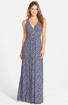 Loveappella V-Neck Jersey Maxi Dress (Regular & Petite) | Nordstrom