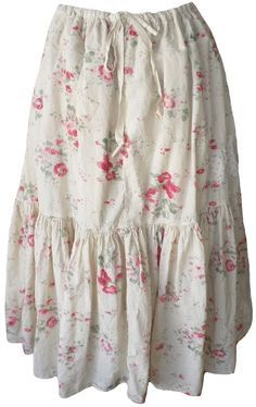 :: Crafty :: Sew :: Clothing ~ Magnolia Pearl: Raspberry rose print Cecily Skirt