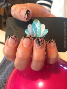 Acrylic nails, nails art, nails