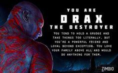 I took Zimbio's 'Guardians of the Galaxy' quiz and I'm Drax the Destroyer! Who are you?