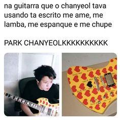 Que isso Park Chanyeol? Baekhyun Chanyeol, Park Chanyeol, Kpop Memes, Kpop Exo, Pop Songs, Just Smile, Chanbaek, Meme Faces, Jikook