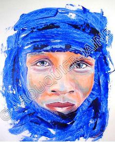 touareg portrait peinture contemporaine