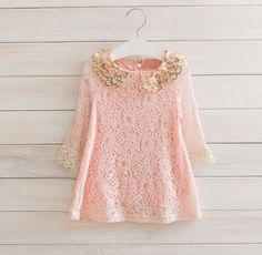 Hey, I found this really awesome Etsy listing at https://www.etsy.com/listing/171711361/girls-lace-pink-dress-2t-6