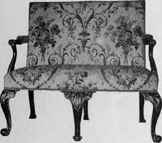 Sofa, 1740. Chippendale Settee