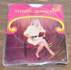 "SHEER SUPPORT NEW NOS Vintage White Panty Hose Med-Tall 5'4"" - 5'8"" 130-160 lbs"