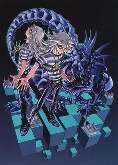 "manga-spot: ""Thief King Bakura by Yu Gi Oh creator Kazuki Takahashi (From the Duel Art Artbook) "" Yu Gi Oh, Blade Runner, Resident Evil, Geeks, Bakura Ryou, Yugioh Yami, Fan Art, Anime Shows, Anime Comics"