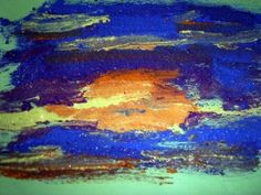 Painting with sand (color plain sand with acrylic paint)