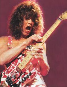 Eddie Van Halen & his Frankenstrat guitar.