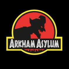 Joker/Jurassic Park logo mash-up Arkham Asylum