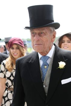 Prince Philip Prince Philip, Duke of Edinburgh and Princess Beatrice attends the Epsom Derby on June 1, 2013 in Epsom, United Kingdom. Love his tie!