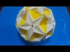 """「星のくすだま」折り紙""""Kusudama of star""""origami - YouTube"""