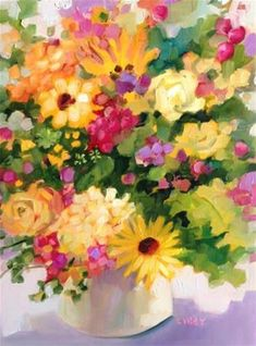 """Daily+Paintworks+-+""""Joy+Place""""+-+Original+Fine+Art+for+Sale+-+©+Libby+Anderson"""