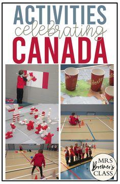 Fun Canada themed activities to celebrate Canada for Kindergarten, Grade 1, Grade 2, and Grade 3 Camping Activities, Hands On Activities, Kindergarten Activities, Science Activities, Summer Activities, Multicultural Activities, Dementia Activities, Children Activities, Preschool Themes