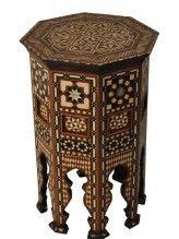Islamic Turkish Ottoman Mother of Pearl Inlaid Wood Coffee Table